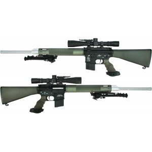 "King Arms 24"" Free Float Heavy barrel Sniper Rifle/OD - KA-AG-10-L-OD Airsoft Toys Gun"