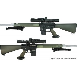 King Arms 20 Inch Free Float Heavy barrel Sniper Rifle/OD - KA-AG-10-M-OD Airsoft Gun