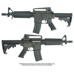 King Arms Colt M4A1 CQB (Licensed Trademarks) - KA-AG-19 Airsoft Gun