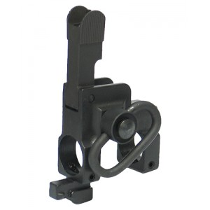 King Arms Tactical Flip-Up Front Sight With Sling Swivel For Marui - KA-FS-01-B for Airsoft Gun