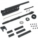 King Arms CASV Hdg Set w/MOD Stock Set - KA-RAS-06-A-DXL-BK for Airsoft Gun