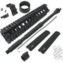 "King Arms 10""Free Floating Forearm Rail System/M4 Barrel - KA-RAS-09-L for Airsoft Gun"