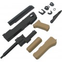 King Arms AK47S Metal Body Deluxe Set A - KA-SK-17-DXA-TAN for Airsoft Gun