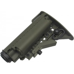 King Arms Carbine MOD Stock - OD (Pipe Without Marking) - KA-STOCK-04-OD-A for Airsoft Gun