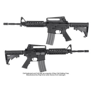 King Arms Colt M4 RIS Nylon Fiber Rifle with GHK GBB Kit - KA-AG-106 Airsoft Gun