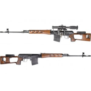 King Arms Kalashnikov Sniper Rifle Air Cocking- Wood Pattern - KA-AG-97-WO Airsoft Gun