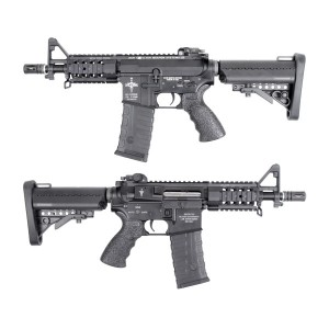 King Arms M4 Tanker Rifle KA-AG-121-BK - AEG Airsoft Gun Kit Set