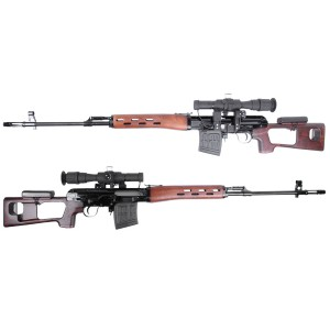 King Arms Kalashnikov Sniper Rifle (Real Wood / Air Cocking) w/Scope - KA-AG-153-WO Airsoft